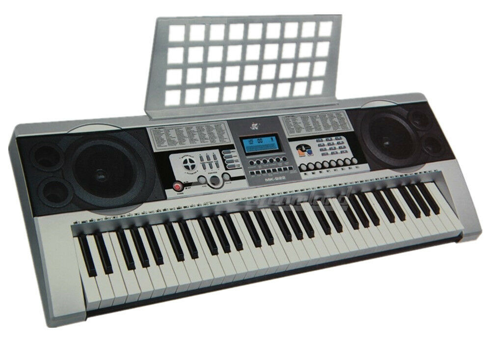 61 keys electronic keyboard portable electric piano with stand power adaptor ebay