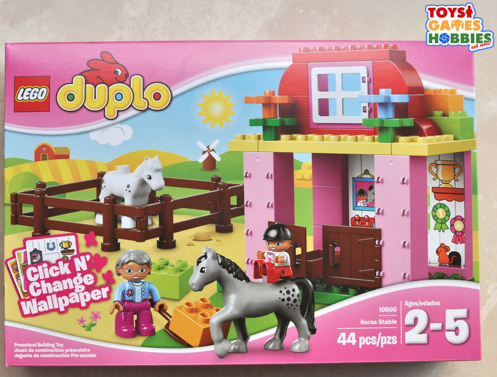 New Lego Duplo Horse Stable 10500 Stables Farm Fence