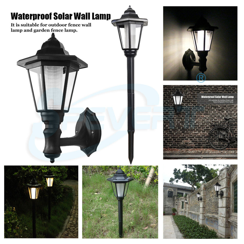 HOT Solar Powered Wall Mount LED Light Outdoor Garden