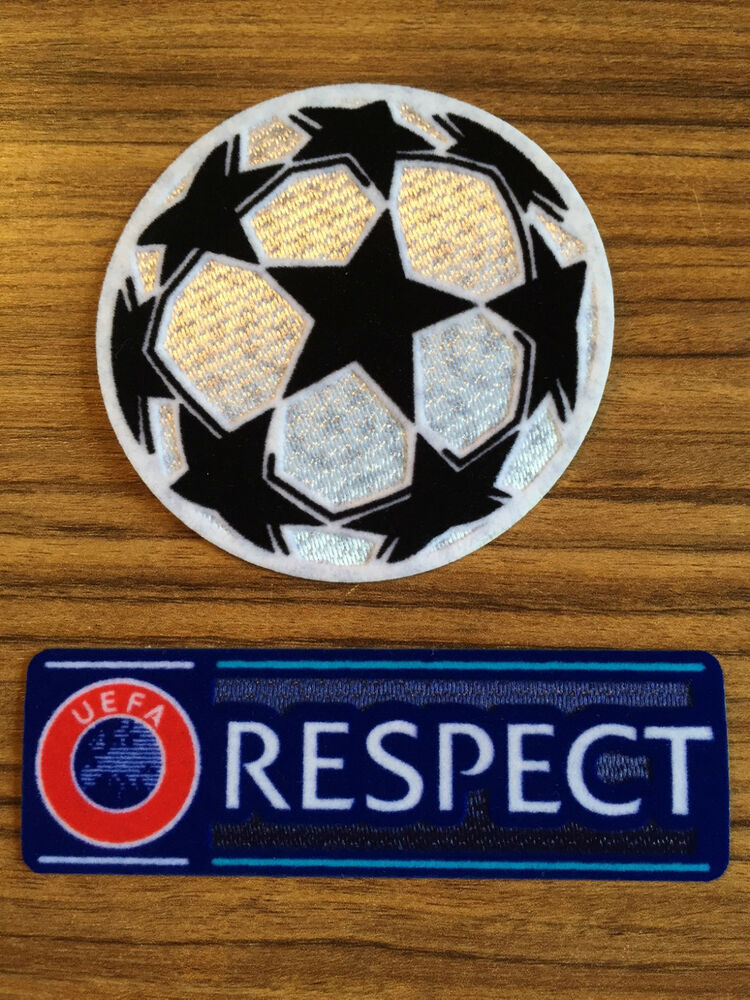 2x patch 1x champions league 2016 2017 respect badge neu ebay. Black Bedroom Furniture Sets. Home Design Ideas