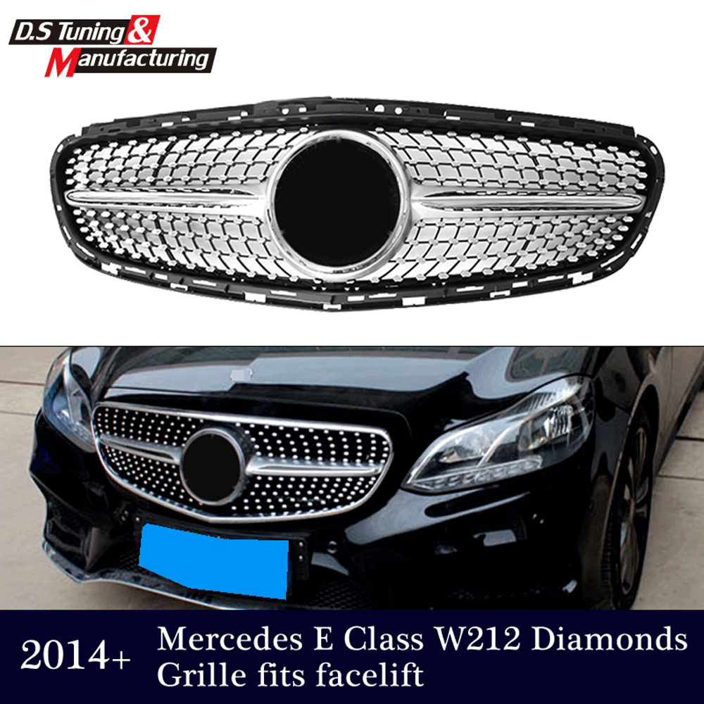 diamond grille front grill for mercedes benz w212 e class. Black Bedroom Furniture Sets. Home Design Ideas