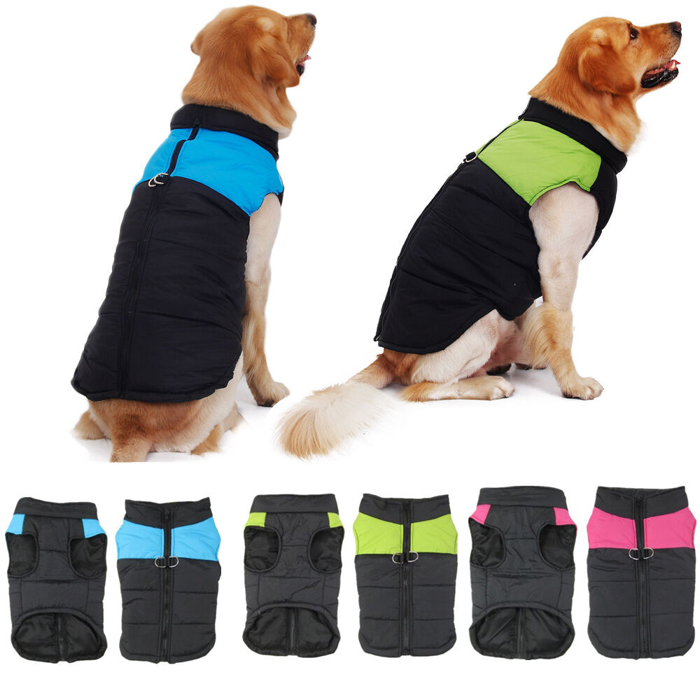 Pet Dog Clothes Padded Jacket Vest Winter Warm Dog Coats ...