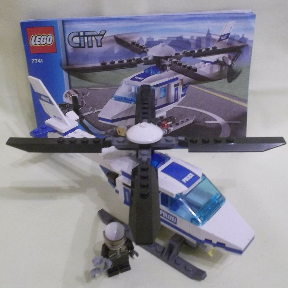 lego city police helicopter 7741 620947035448 ebay