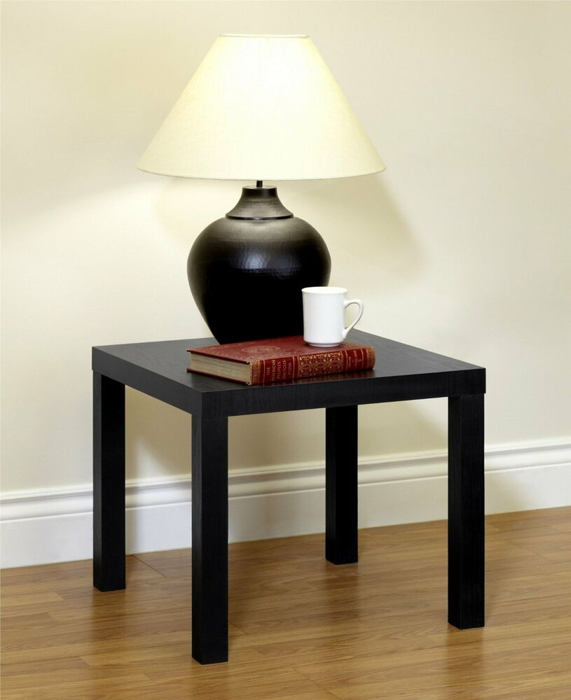 End table brown finish coffee night stand bedside laptop table ebay