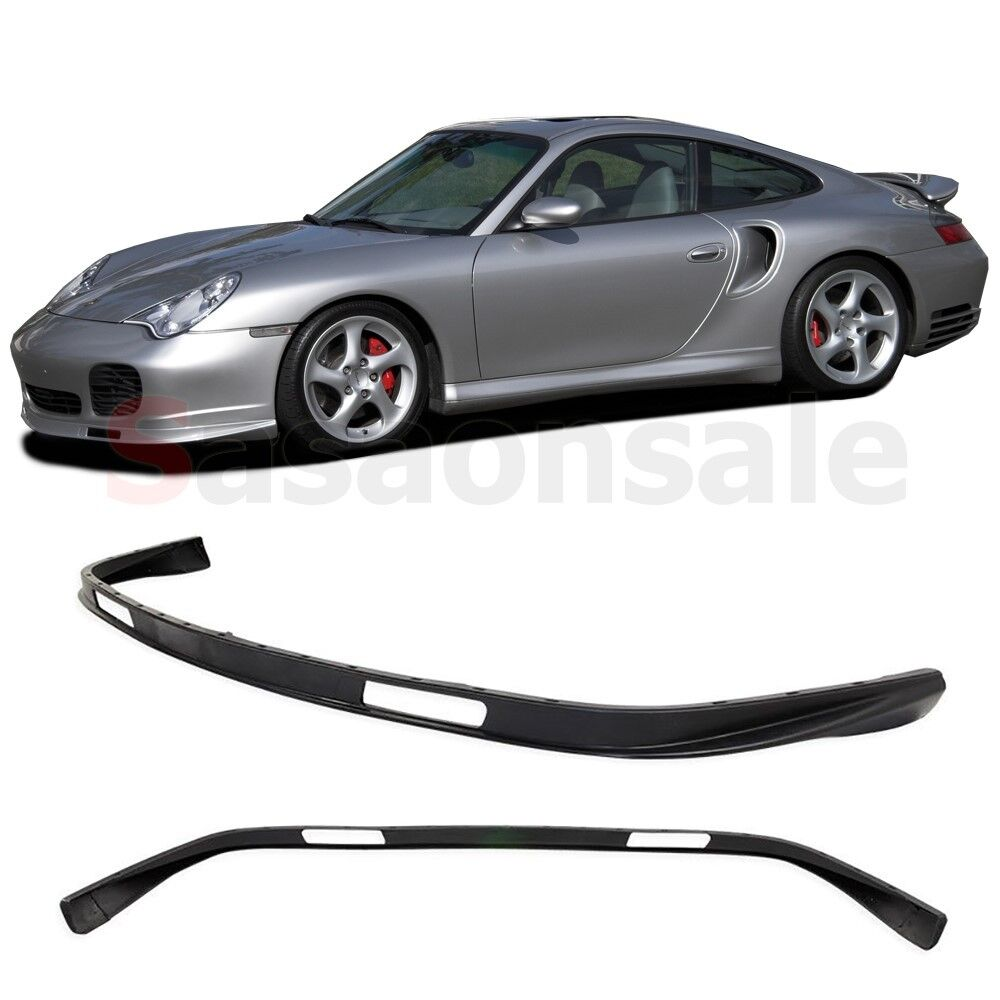 fit for 2001 2005 porsche 911 carrera 996 turbo 4s front bumper add on lip pu ebay. Black Bedroom Furniture Sets. Home Design Ideas