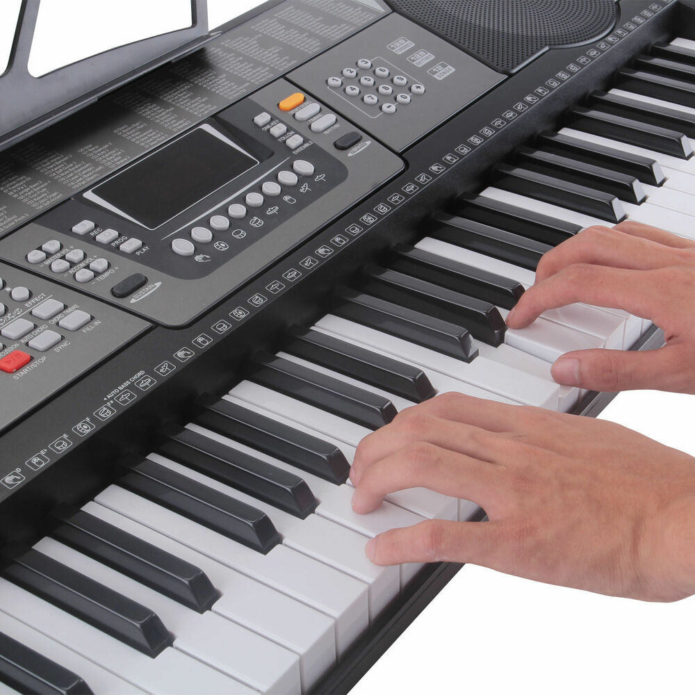 new electric piano keyboard w 61 full size keys ebay. Black Bedroom Furniture Sets. Home Design Ideas