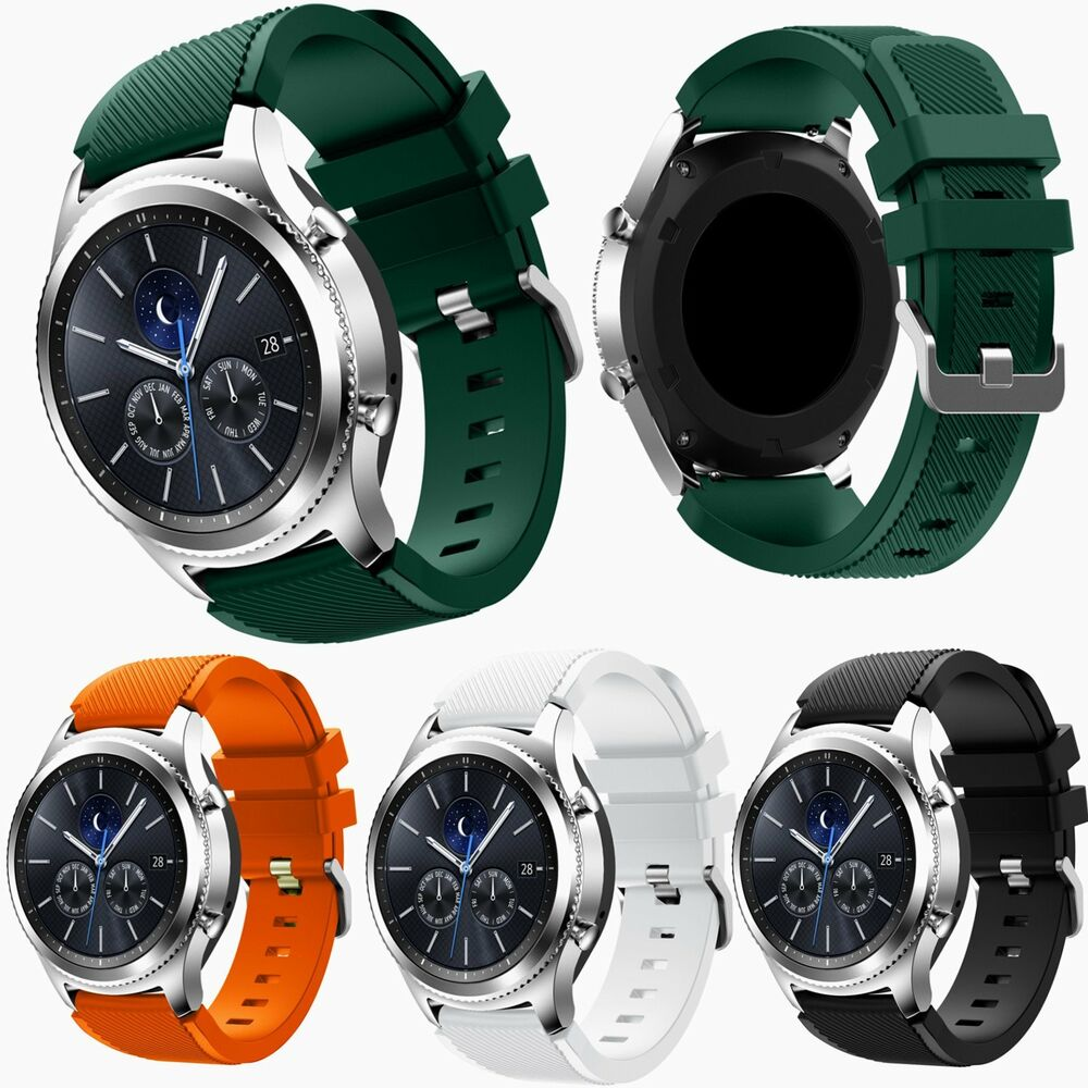 22mm silicone wrist watch band for samsung galaxy gear s3. Black Bedroom Furniture Sets. Home Design Ideas