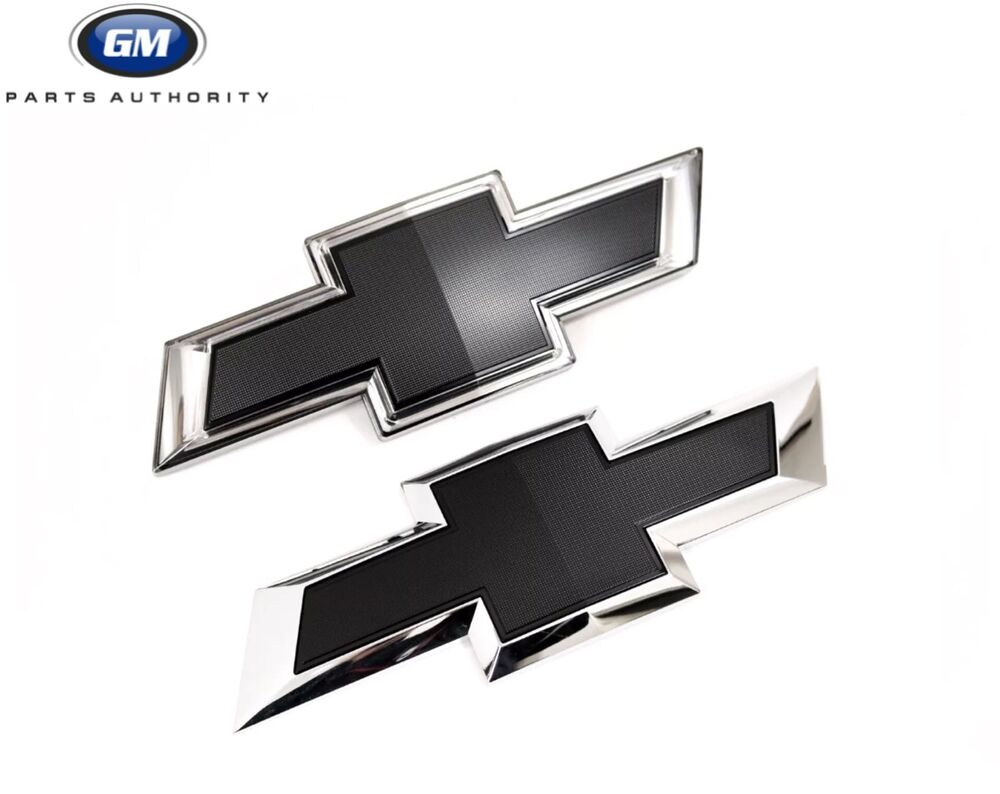 All Chevy black chevy symbol : 2015-2018 Chevrolet Silverado HD Front Black Illuminated Bowtie ...