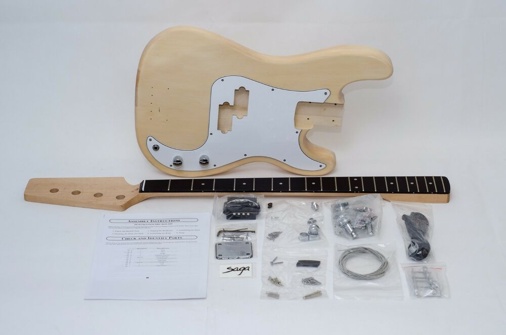 saga build your own pb bass guitar kit ebay. Black Bedroom Furniture Sets. Home Design Ideas