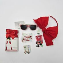Claire's & Icing Girl Jewelry Lot Xmas Accessories- Sunglass, Earrings, Tights