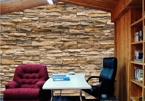 3d stone roll modern brick wall background wall wallpaper for 3d stone wallpaper for living room