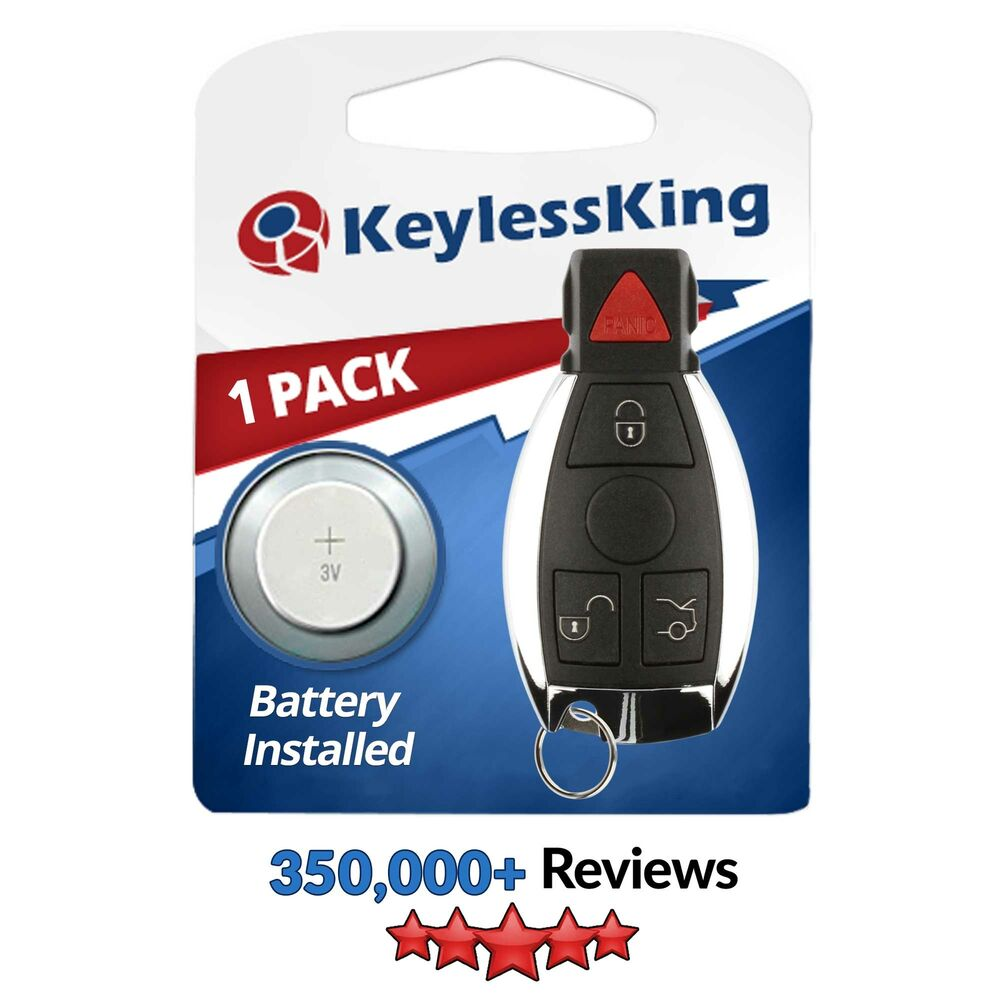 replacement remote for mercedes benz iyz3312 keyless entry