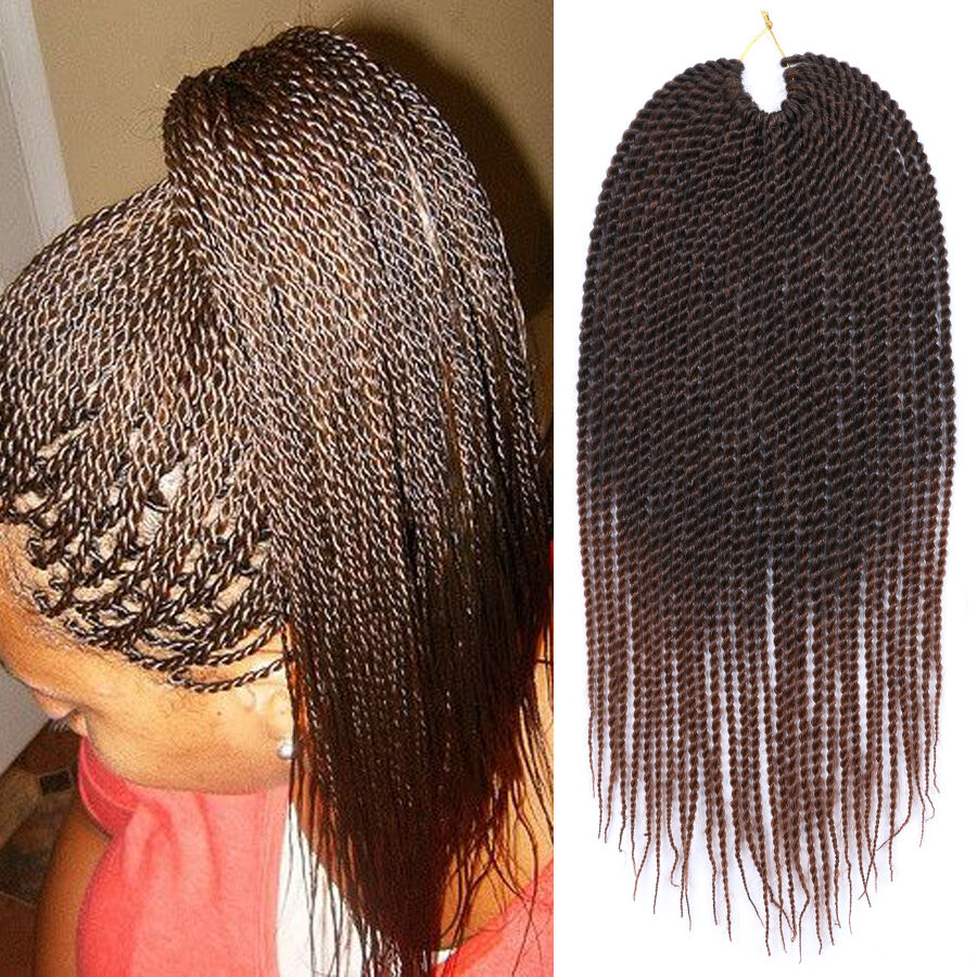 "Ombre Brown Braiding Hair 18"" 30Roots/Pack Senegalese"