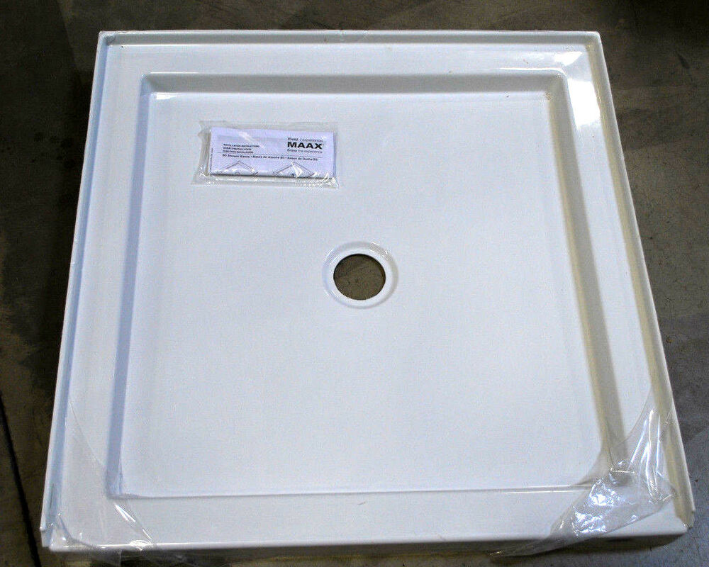 Maax 420003-501-001-100 B3Square Center 4836 Shower Base (White) | eBay