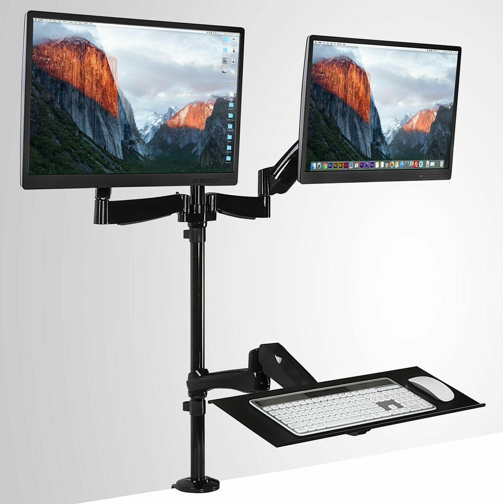 Mount It Sit Stand Workstation Height Adjustable 2