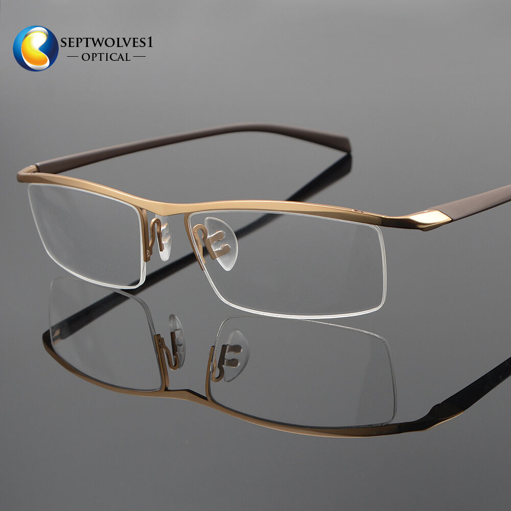 new s half rimless titanium reading glasses eyeglasses