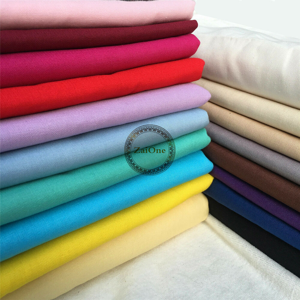 Plain 100 cotton fabric quilting sewing crafts patchwork for Cotton sewing material