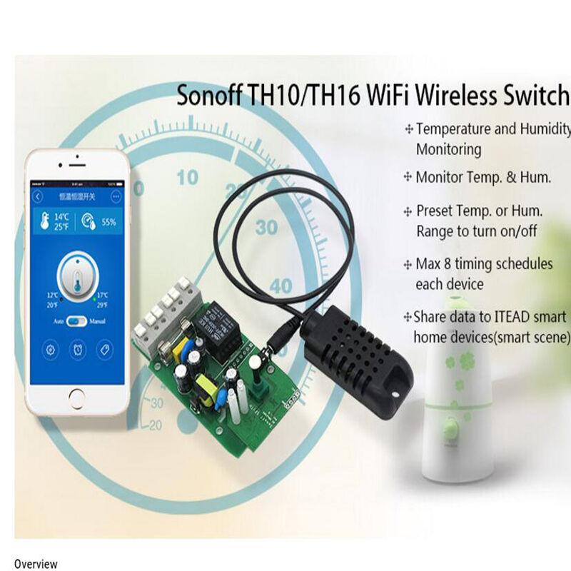 th10 th16 temperature humidity wireless smart home automation switch fr sonoff l ebay. Black Bedroom Furniture Sets. Home Design Ideas
