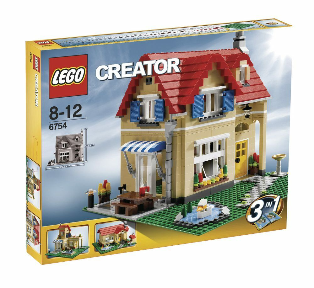 New Lego Creator 6754 House 3 In 1 Set Retired Hard To