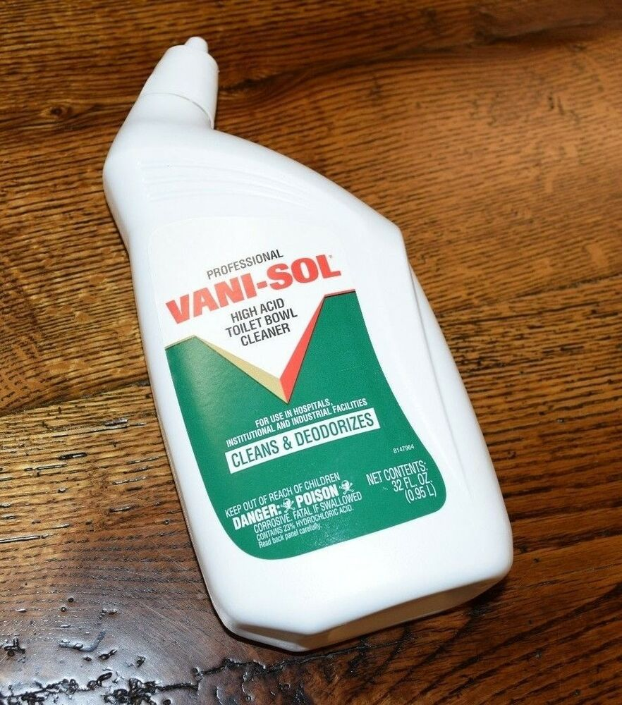 Vani Sol Toilet Bowl Cleaner 1 Bottle Professional 32 Oz