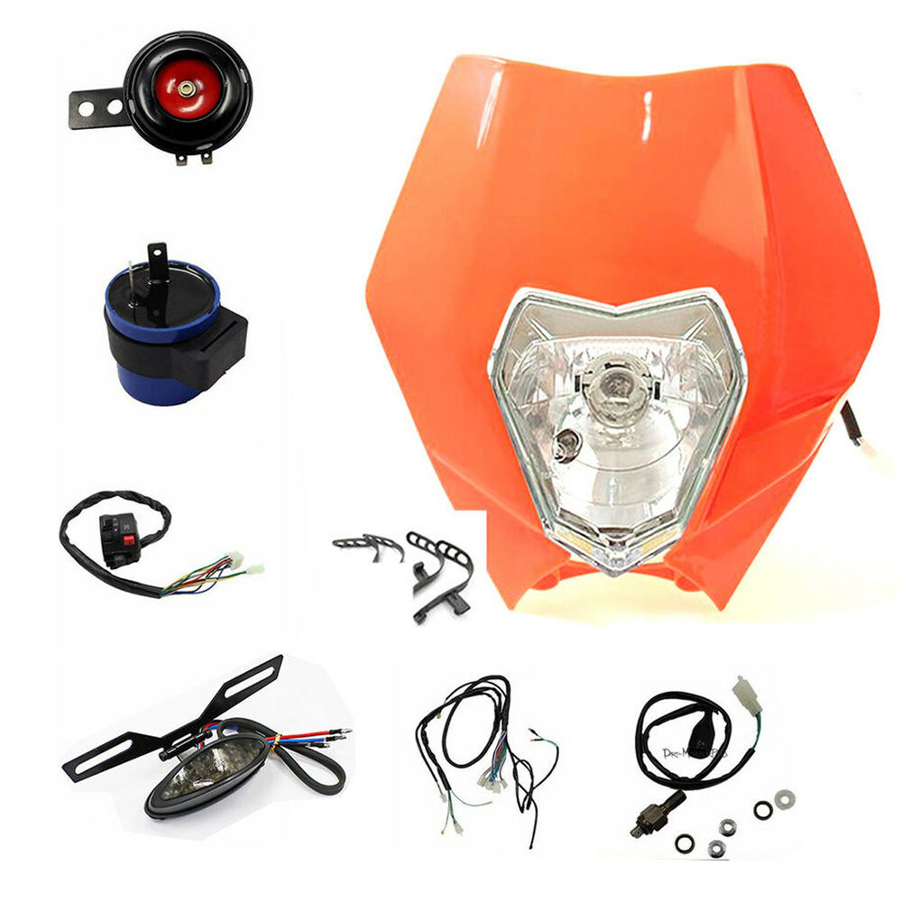 For Ktm 500 450 350 300 Exc Enduro Dirtbike Head Tail Light Wiring 525 Harness Horn 8291985526216 Ebay