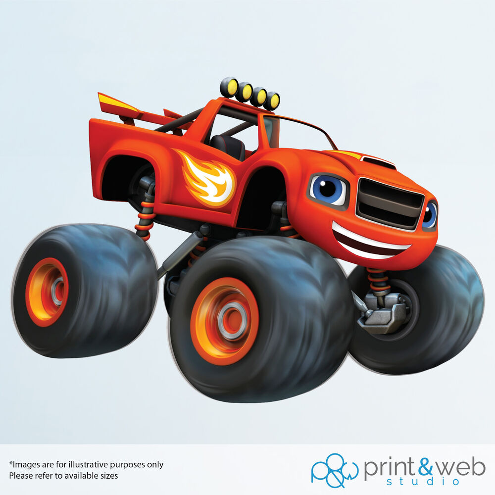 Blaze Monster Machines Wall Decal Sticker Bedroom Vinyl