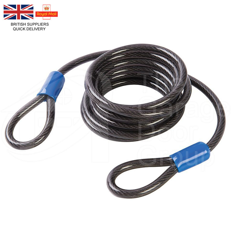 10mm Thick Flexible Security Cable Lock Extender Motorbike Steel ...