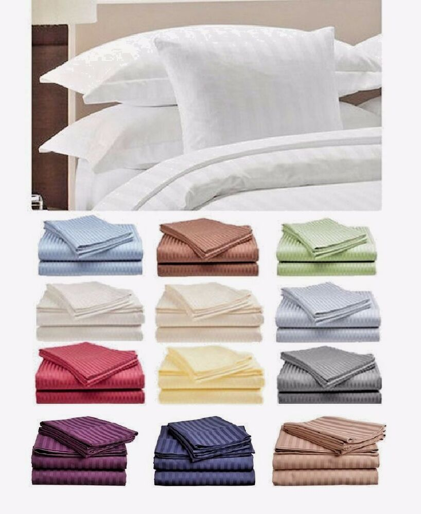 1800 Count 4 Piece Bed Sheet Set Twin Full Queen King Ebay