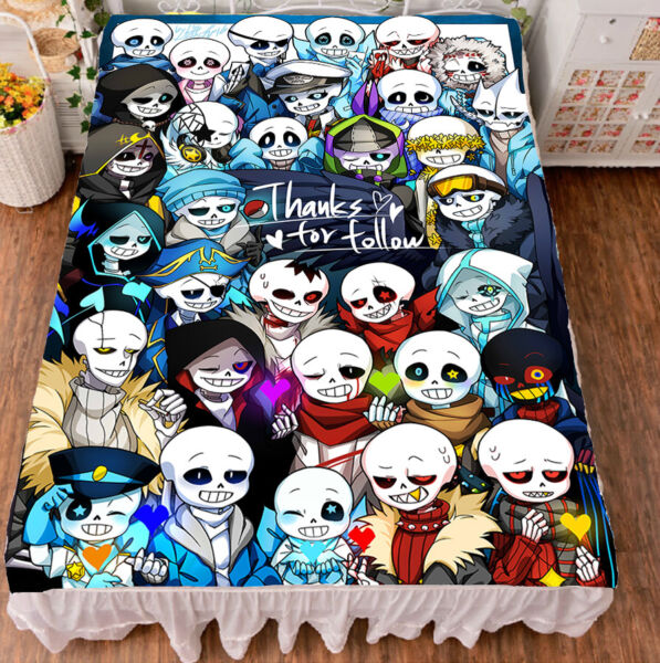 Game Undertale Sans Papyrus Summer Slick Flat Bed sheet Bedding Gift 59*79 #H06