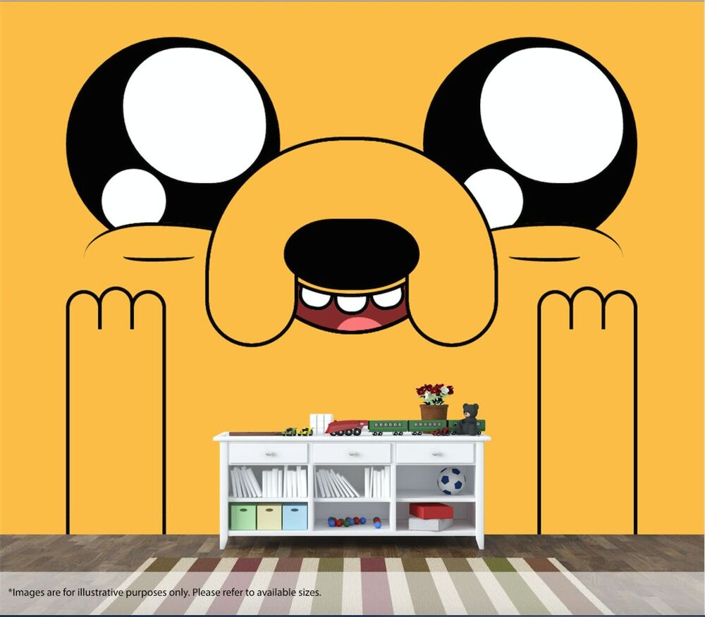 Adventure Time Wall Mural Wall Art Quality Pastable Wallpaper Decal ...