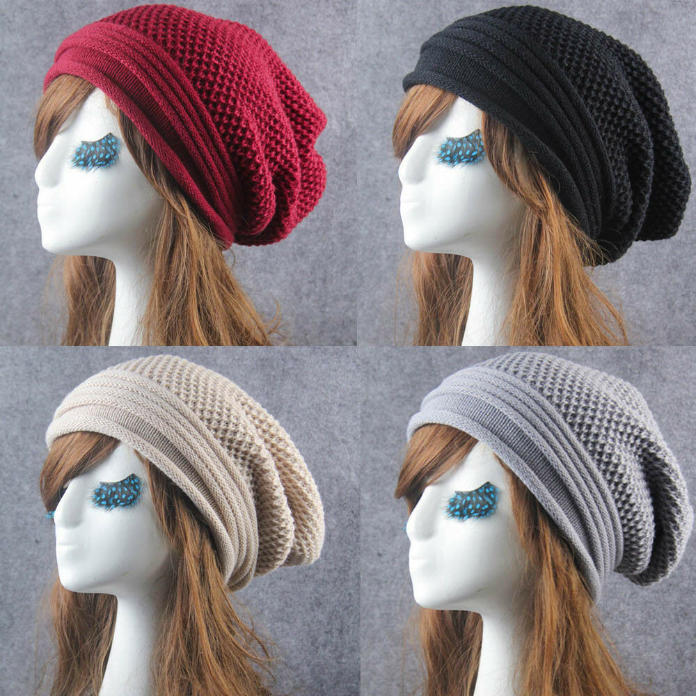 Details about Vogue Knit Winter Warm Women Men Hip-Hop Beanie Hat Baggy  Unisex Ski Skull Cap 327915ca1d14