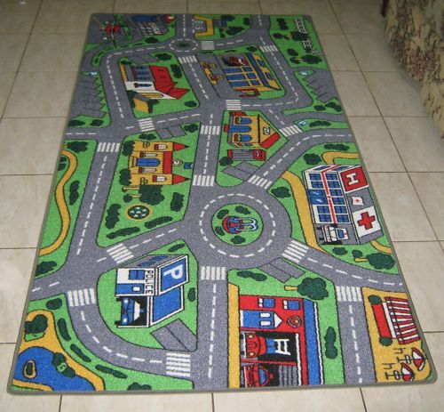 New City Road Car Track Kids Play Mat Rug 100x200cm Ebay