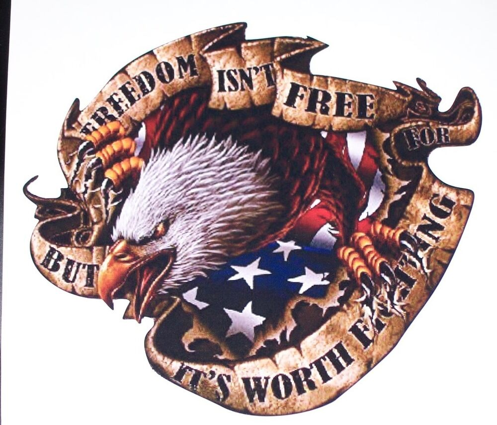 American Flag Eagle Freedom Isnt Free Bed Side Or Window