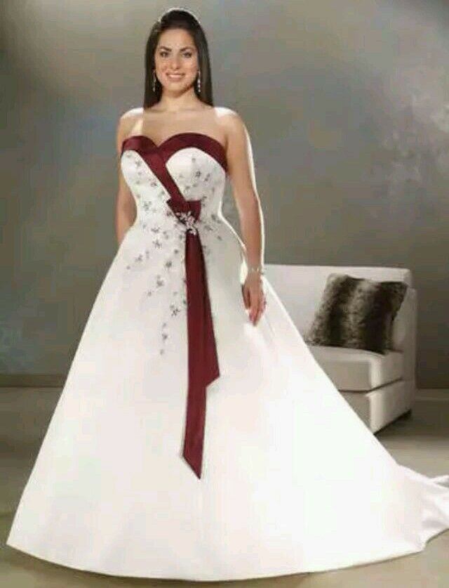 Purple And Ivory Wedding Dresses : Plus size white ivory burgundy blue purple wedding dress