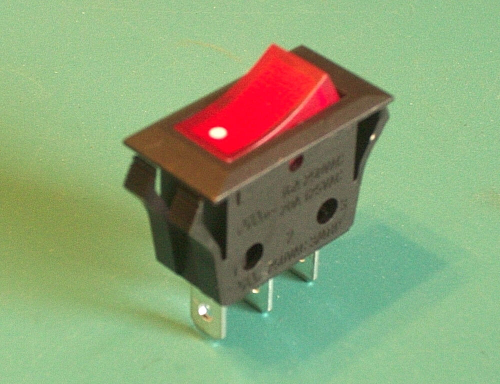 Twin Star Fireplace Heater On Off Lighted Rocker Toggle