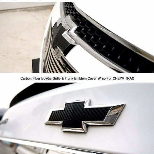 Carbon Fiber Emblem Wrap Kit Custom Chevy Bowtie Vinyl