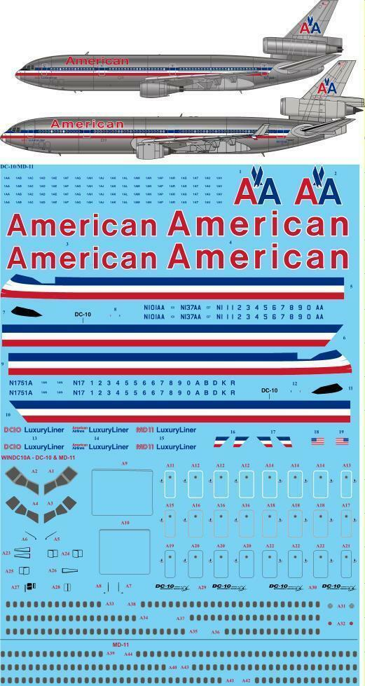 26decals 1 144 Mcdonnell Douglas Dc 10 Md 11 American