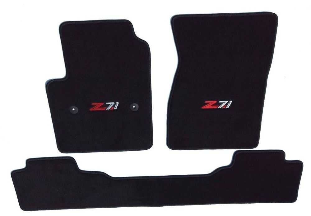 Chevy Silverado Extended Cab 3pc Black Carpet Floor Mats