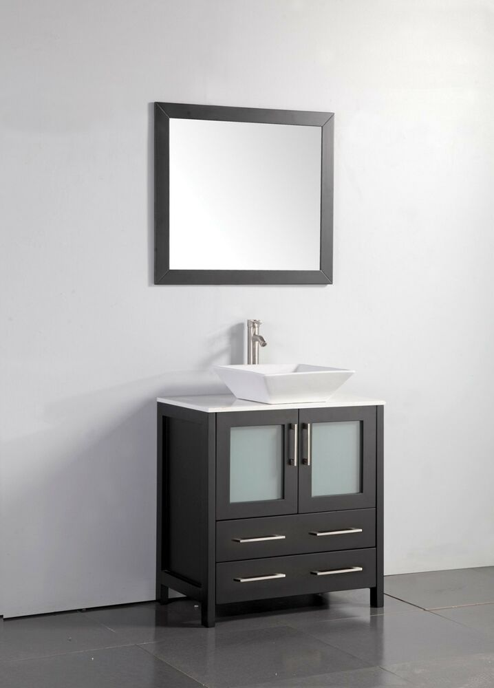 Vanity art 30 inch single sink bathroom vanity set with ceramic top va3130 ebay Bathroom sink and vanity sets