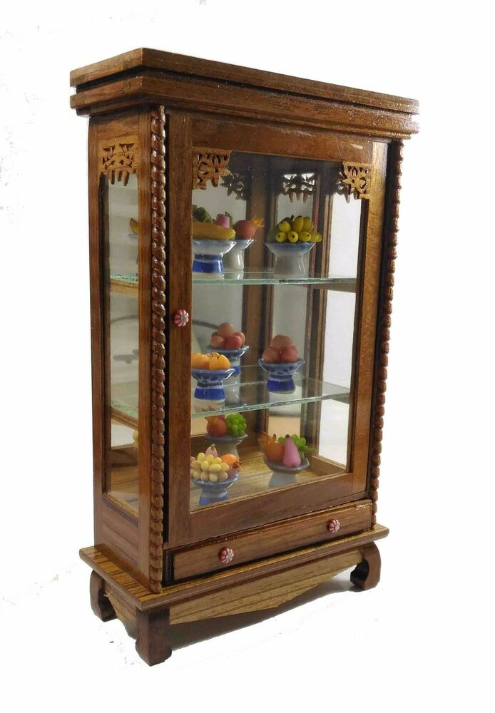 bathroom curio cabinet vintage cabinet small storage wood furniture bathroom 11465