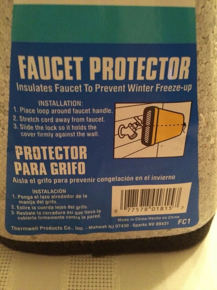Outdoor Faucet Cover by Frost King Brand New - Easy Slide Tight ...