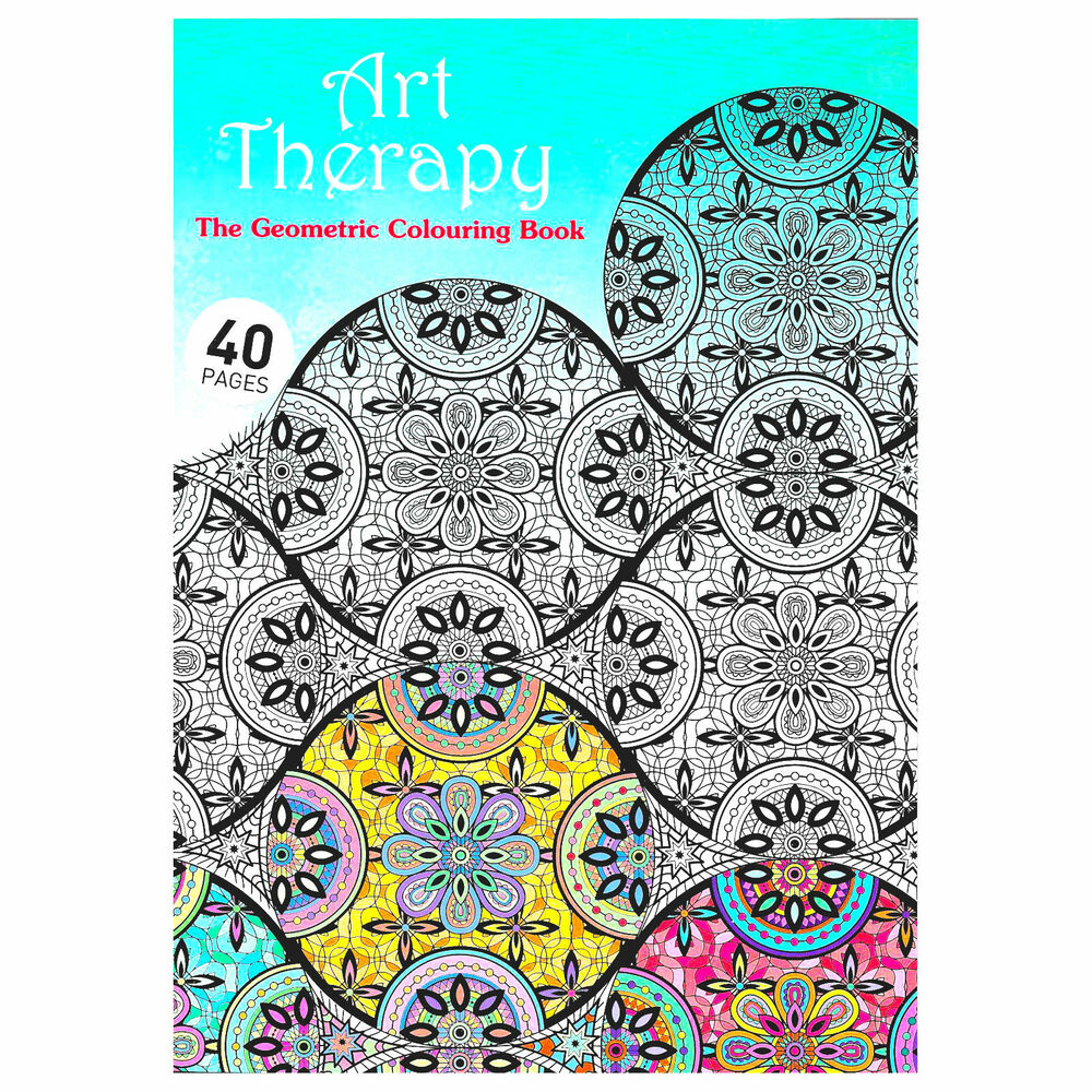 NEW Art Therapy Geometric Adults Colouring Book Creative