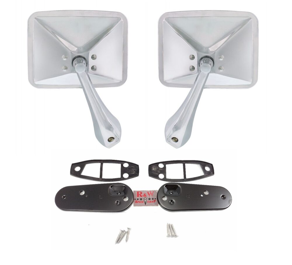 Pair Side Rear View Mirrors For 1970 1971 1972 Chevrolet