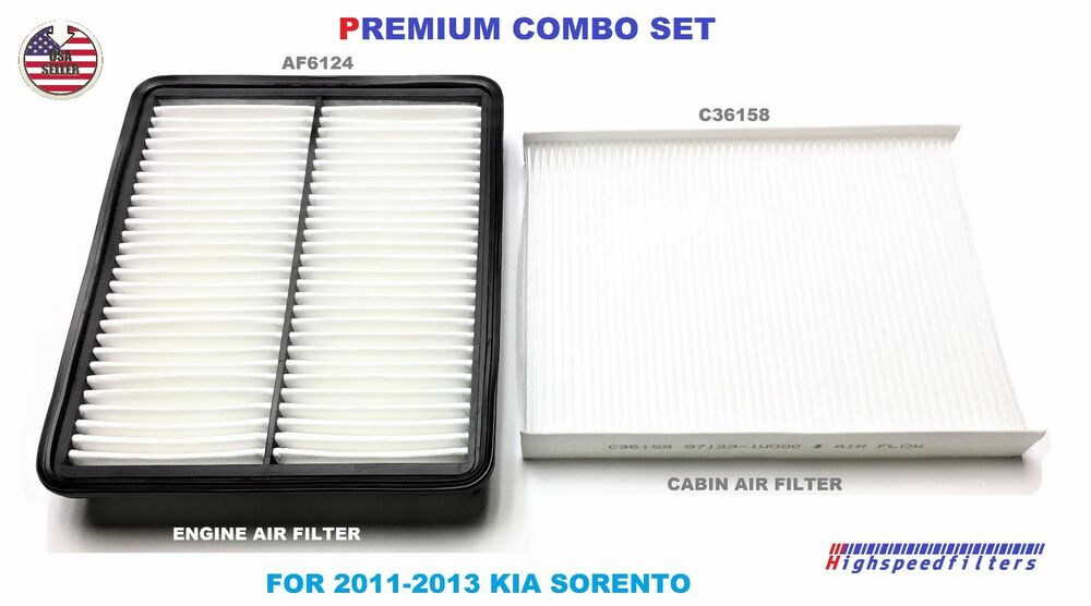 combo air filter cabin air filter for 2011 2012 2013 kia. Black Bedroom Furniture Sets. Home Design Ideas