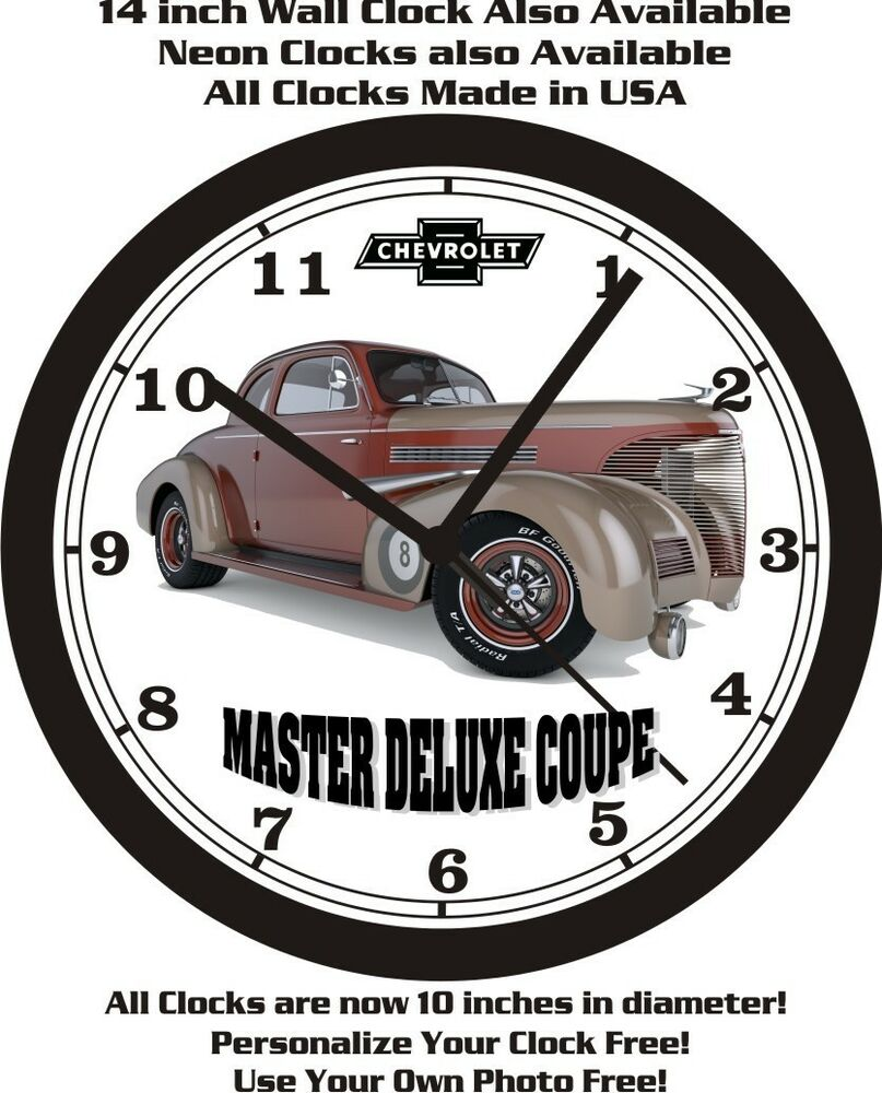 1939 Chevrolet Master Deluxe Coupe Wall Clock Free Usa