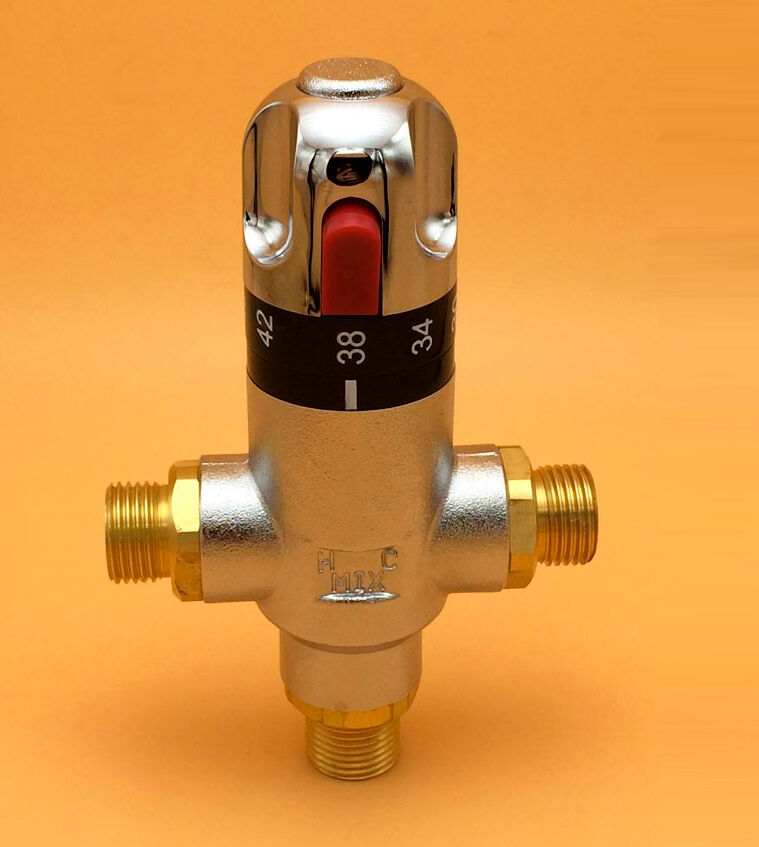 """Industrial Thermostatic Mixing Valve: Brass G3/4"""" Thermostatic Mixing Valve, Automatic Mixing"""