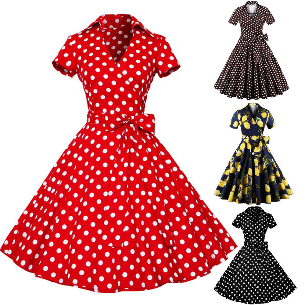 rockabilly 50er polka dot karneval retro gothic pinup petticoat party tanz kleid ebay. Black Bedroom Furniture Sets. Home Design Ideas