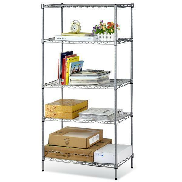 5 Tiers Layer Shelving Unit Steel Wire Metal Rack Home