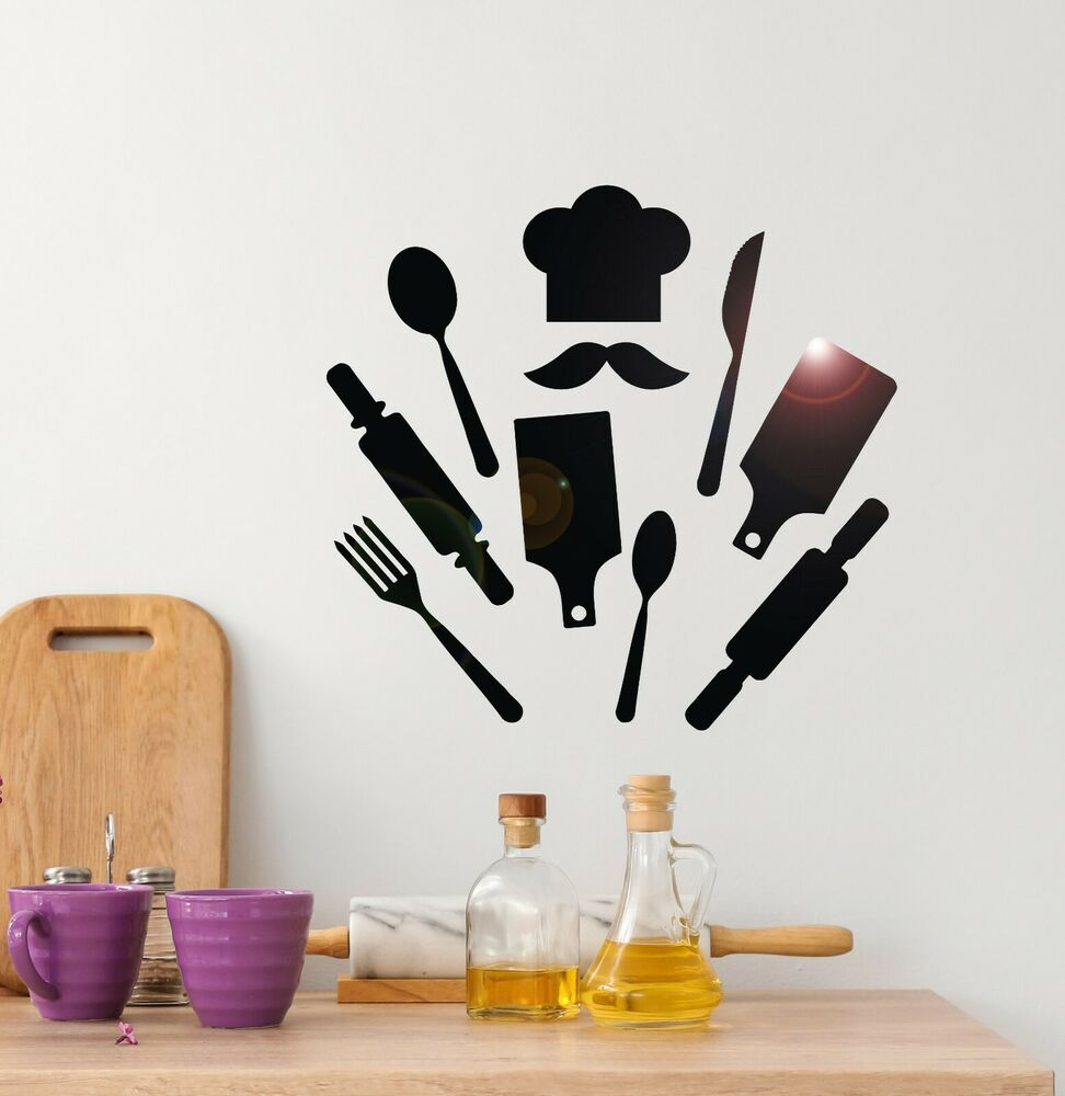 Kitchen Pictures For Wall: Vinyl Wall Decal Chef Kitchen Restaurant Decor Cook