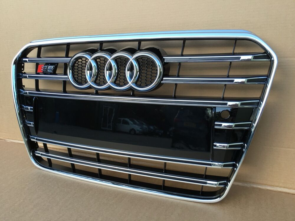 audi a5 s5 2012 2016 bumper grill front grill s style. Black Bedroom Furniture Sets. Home Design Ideas